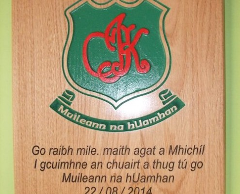 Irish TImber Plaque